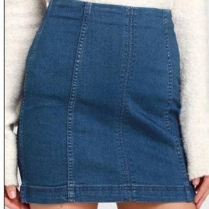 Free People Modern Femme Mini Skirt NWOT